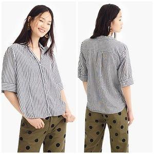 J CREW Short-sleeve button-up shirt in stripe
